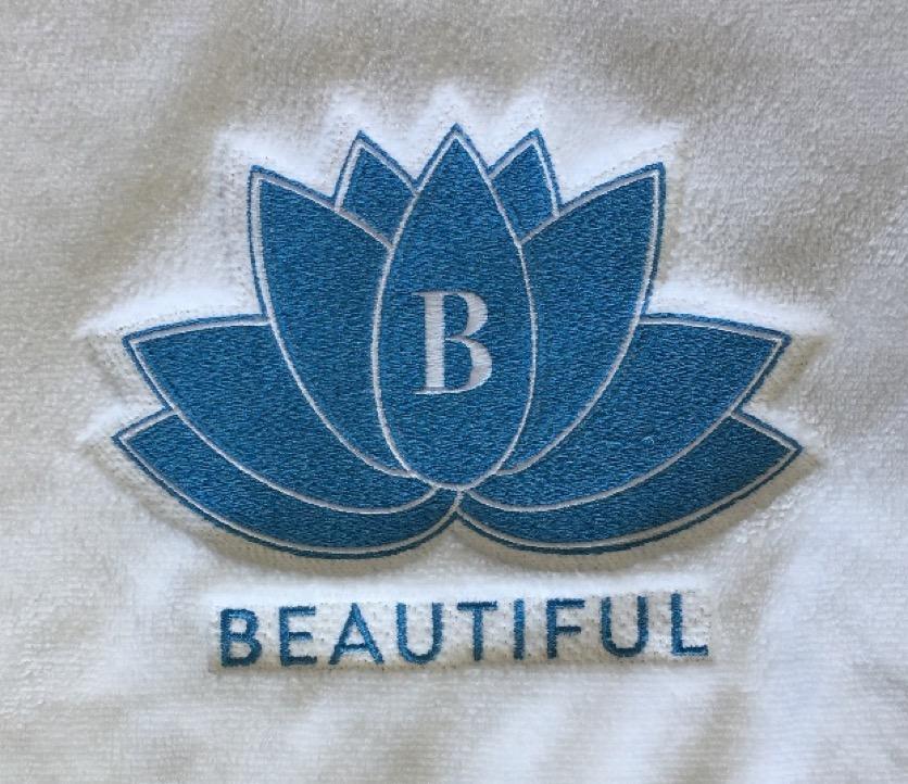 Logo B-Beautiful de Genève sur tissu